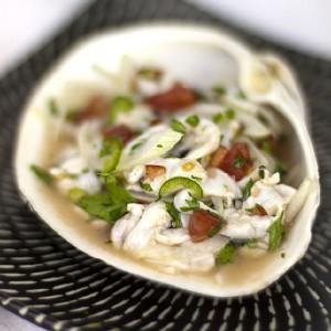 Gaper clam seviche